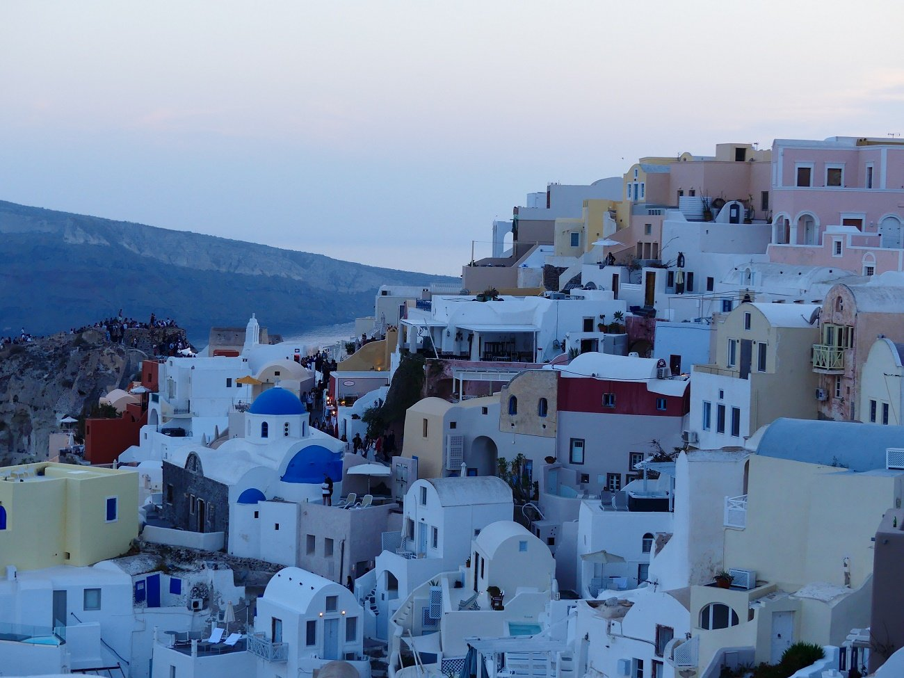 Santorini towns and villages