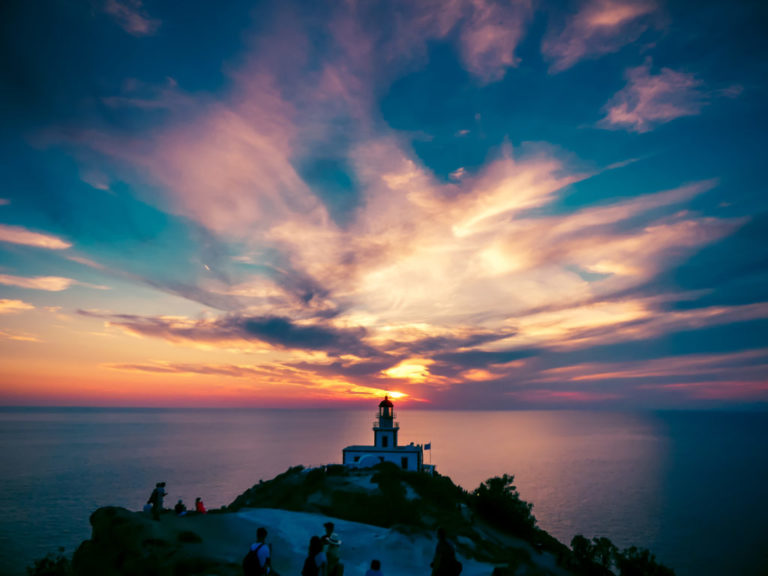 Sunset at Akrotiri lighthouse