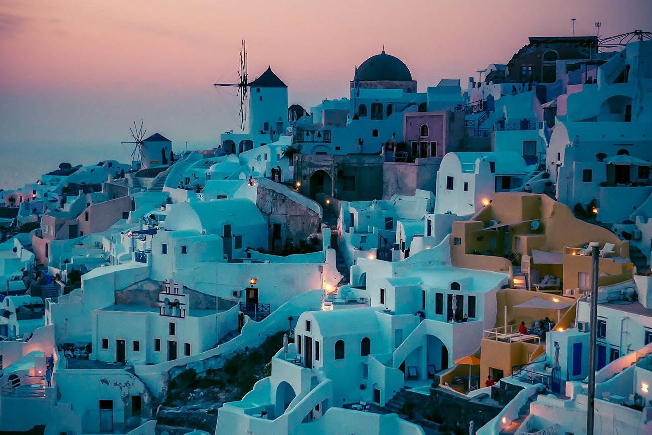 Visit the island of Santorini in Greece