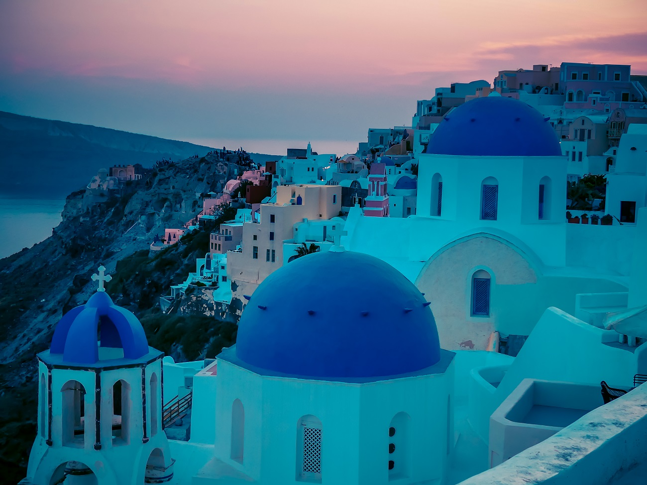 Sunsets in Oia, Santorini